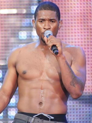 Usher in concert