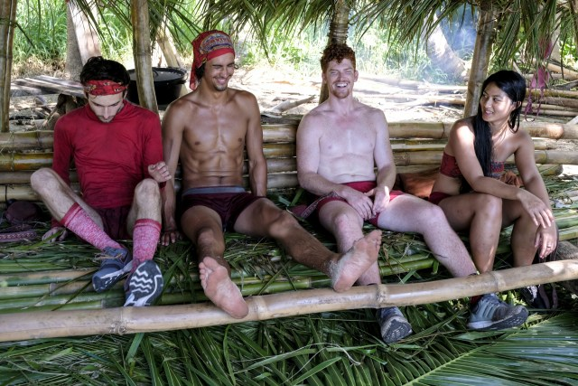 Ryan Ulrich, Devon Pinto, Patrick Bolton and Simone Nguyen on Survivor: Heroes Vs. Healers Vs. Hustlers