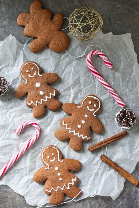 Kid-Friendly Holiday Desserts: Roll and decorate these gingerbread cookies with the kids