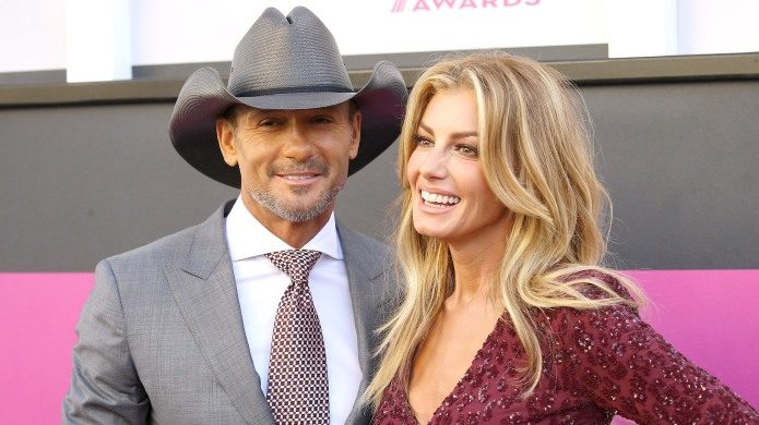Tim McGraw and Faith Hill arrive