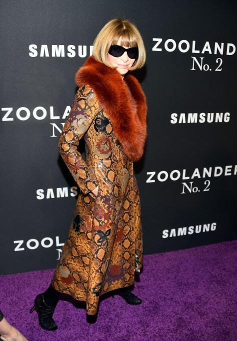Anna Wintour at Zoolander premiere