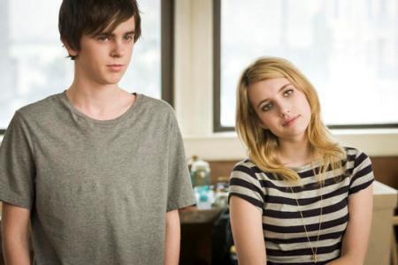 Emma Roberts and Freddie Highmore practice