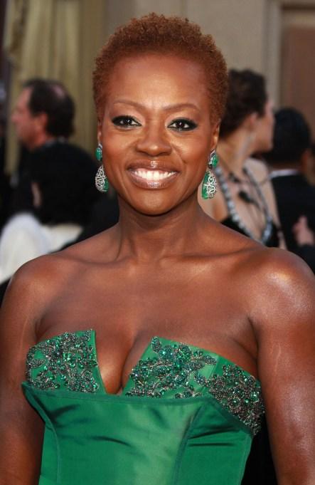 Viola Davis red carpet looks: 2012 Oscars