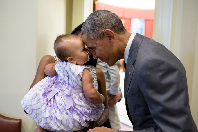 Barack Obama with little girl