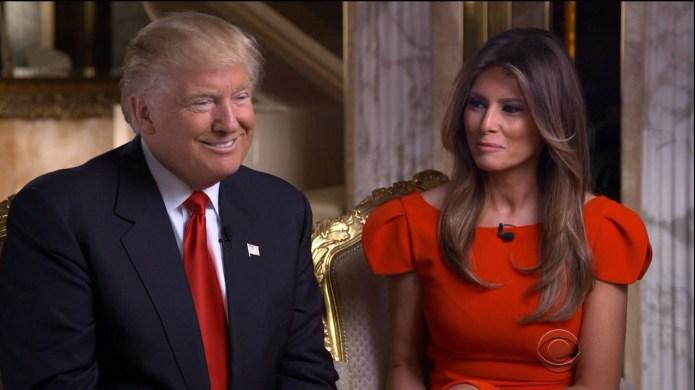 Melania & Donald Trump Hold Hands