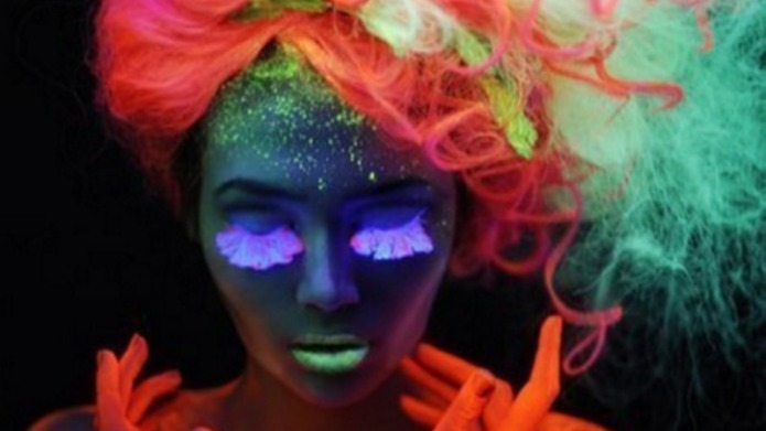 UV reactive hair is the most