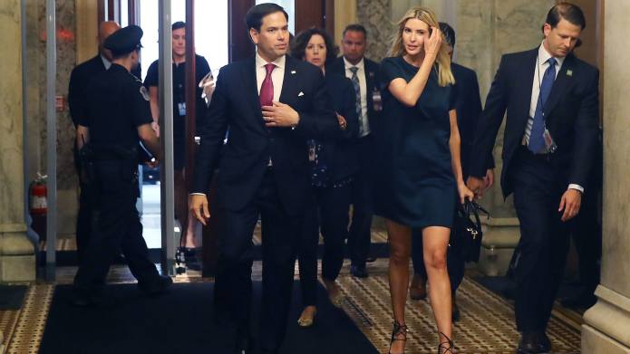 Ivanka Trump & Marco Rubio Run