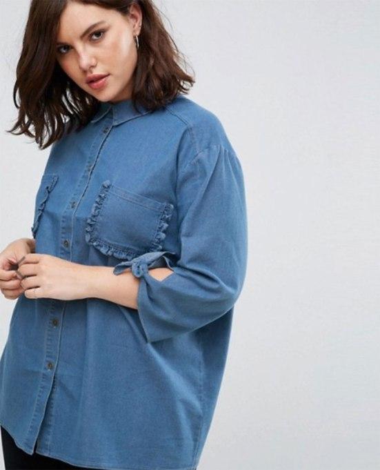 Cool Denim For Fall: Lost Ink Plus shirt | Fall Fashion 2017