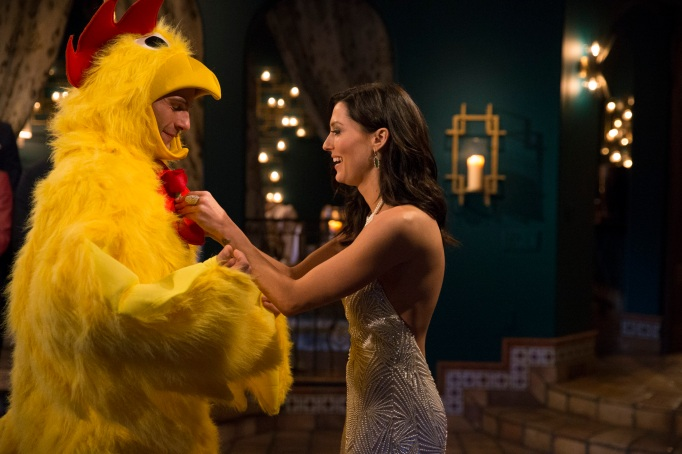 'The Bachelorette' chicken costume
