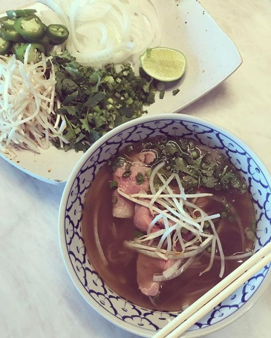 Chrissy Teigen Mouth Watering Recipes: bowl of pho | Celebrity Eats