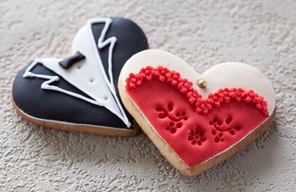 Wedding themed sugar cookies recipe