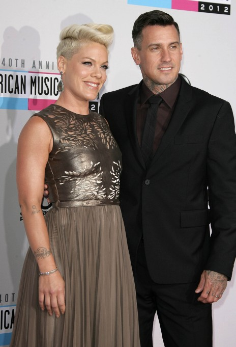 Pink and her husband at the American Music Awards