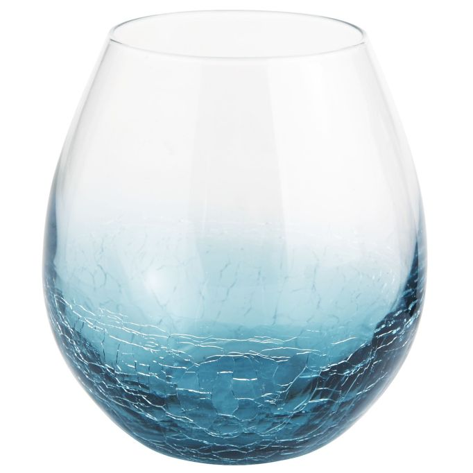 Cute, affordable wine glasses | teal stemless glass