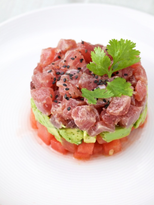 Easy Watermelon Recipes | This watermelon tuna tartare is perfect for summer dinner parties.