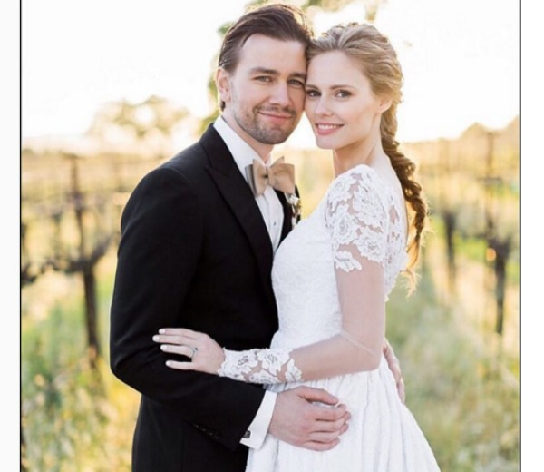 Torrance Coombs and wife