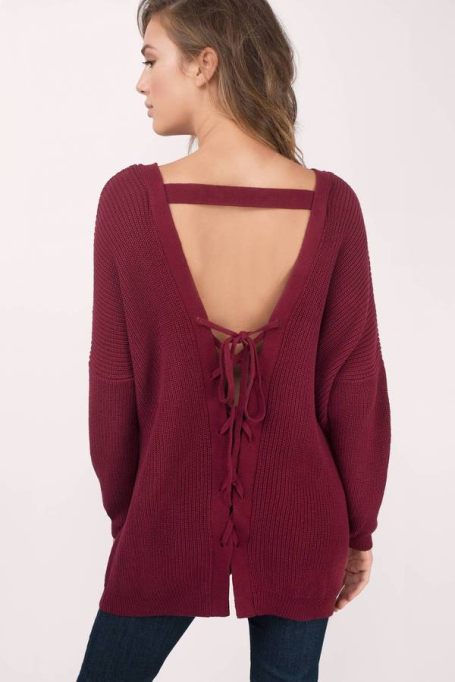 Cozy Sweaters For Under $100: Cozy Up Wine Sweater | Fall Fashion 2017