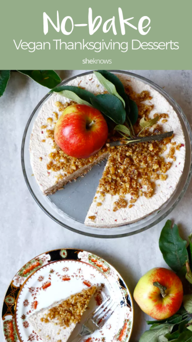 Pin it! 20 No-Bake Vegan Thanksgiving Desserts