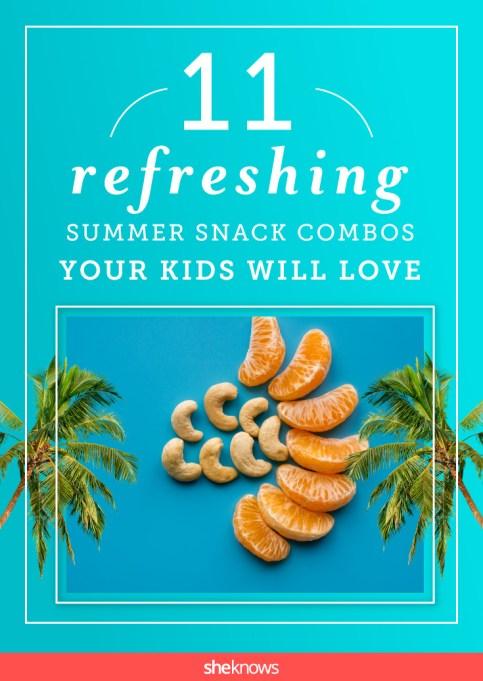 Summer snack combos for kids Pinterest image