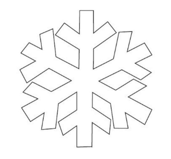 Mesmerizing image within snowflakes template printable