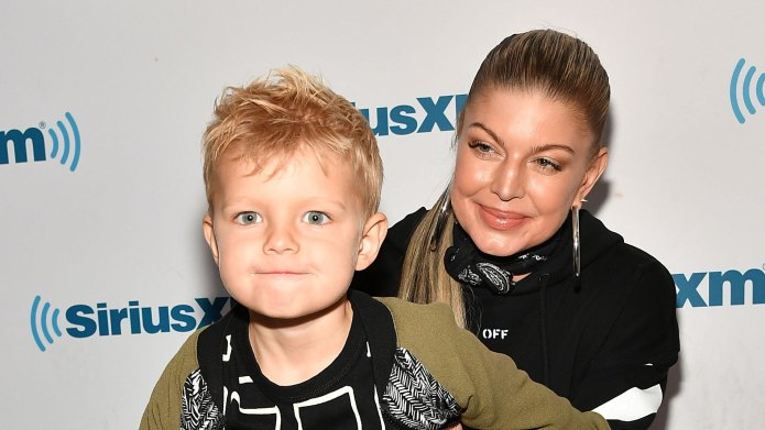 Fergie & Son Axl Enjoy a