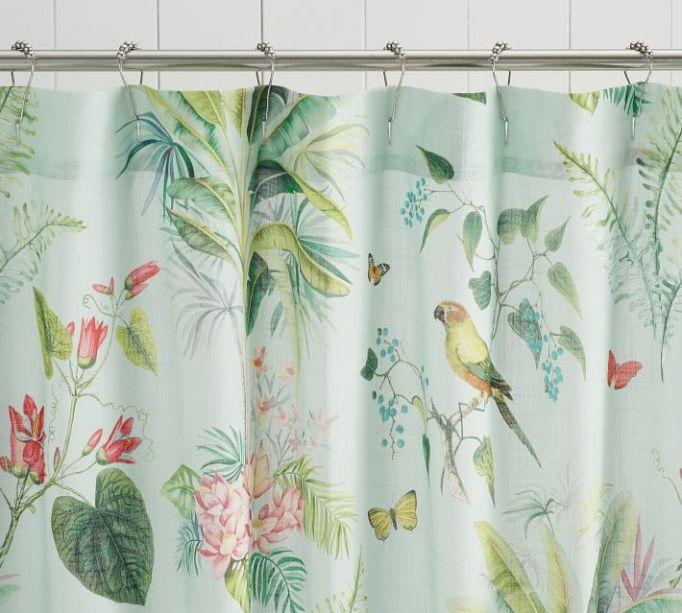 Lia Palm Shower Curtain