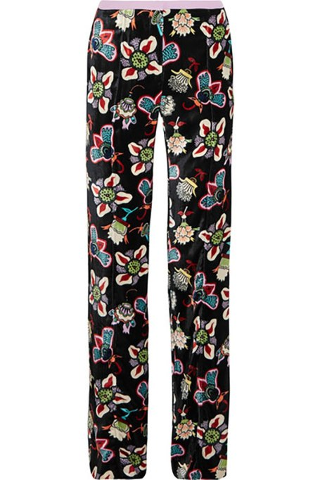 Ways To Wear Graphic Prints: Valentino pants at Net-a-Porter | Fall Fashion