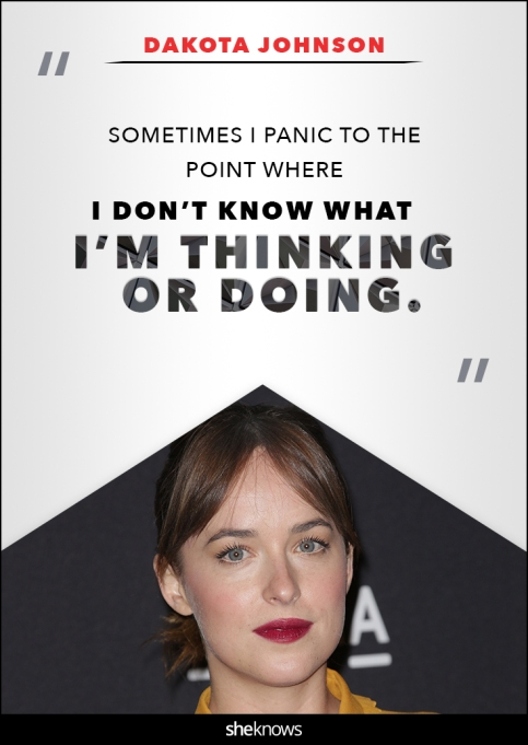 Dakota Johnson anxiety quote