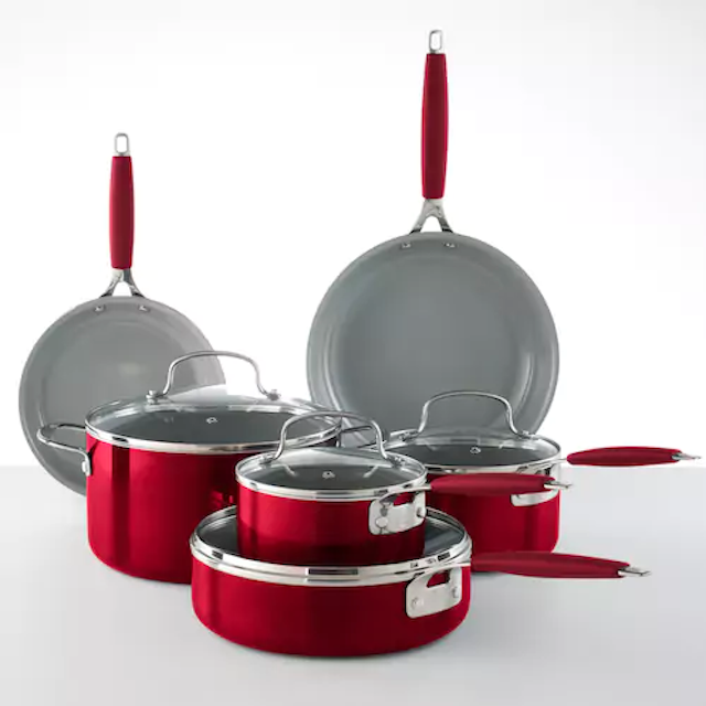 Food Network 10-piece ceramic cookware set