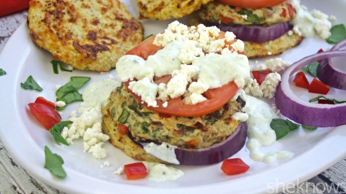 Gluten-free Friday: Greek chicken burgers with