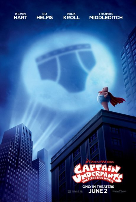 'Captain Underpants: The First Epic Movie' movie poster