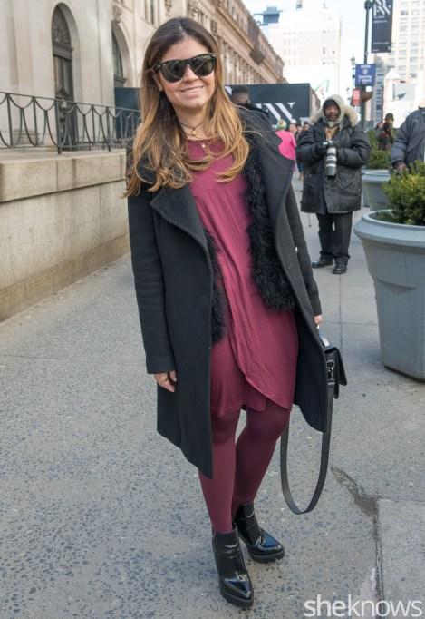 Eli Tahari jacket, Club Monaco Vest, shoes from Zara