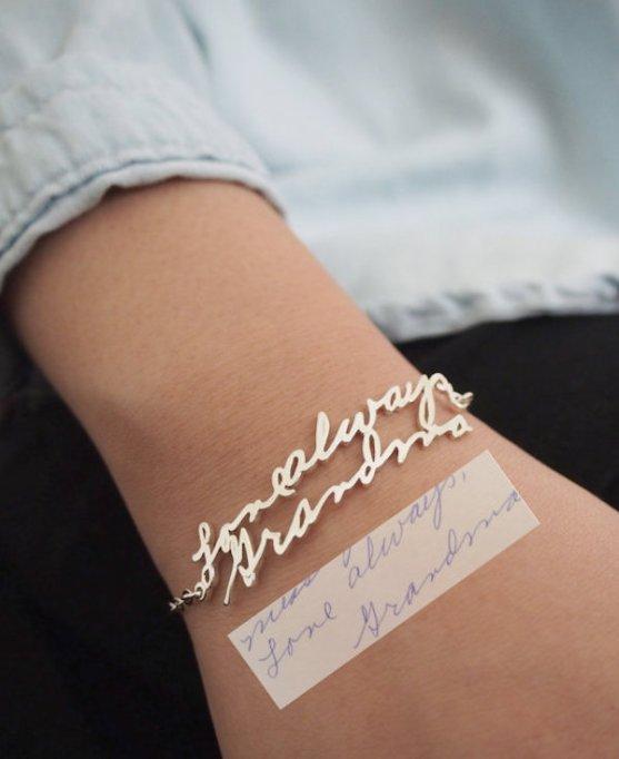 Handwriting bracelet
