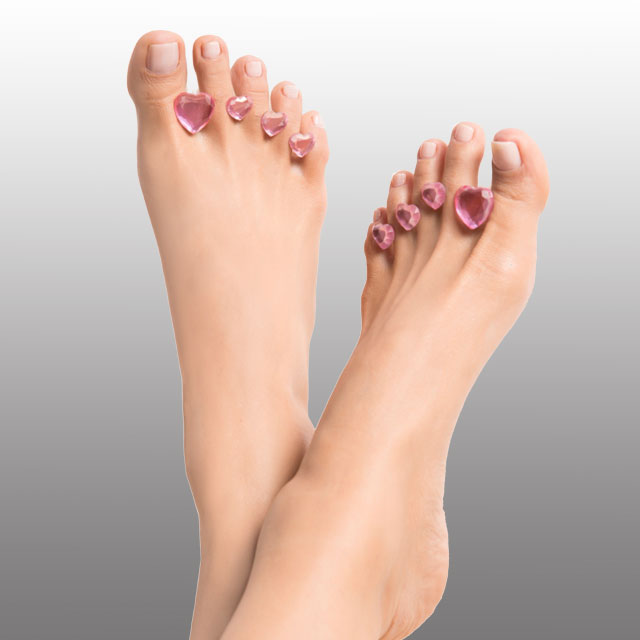 Dip Into Pretty My Heart Beat Pedi Spacers