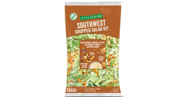 Little Salad Bar Southwest Chopped Salad Kit at Aldi