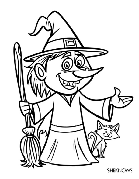 54 Halloween coloring pages