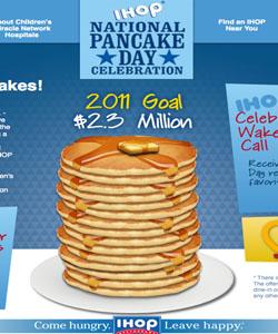 Free pancakes during national Pancake day 2011