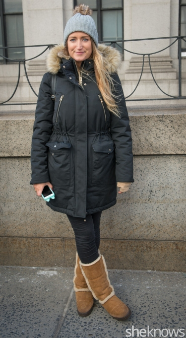 Hat from Nordstrom, jacket from Zara