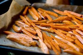 Roasted Sweet Potato Sticks