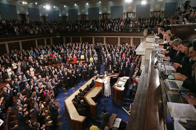 Pope Francis addresses a joint meeting of the U.S. Congress