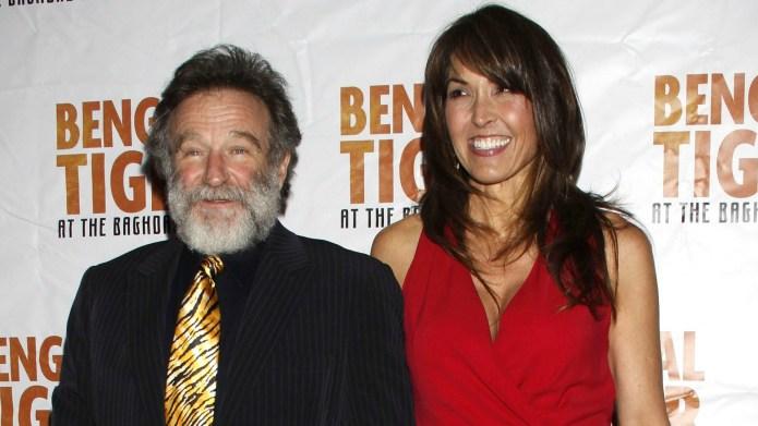Robin Williams' widow allegedly making money