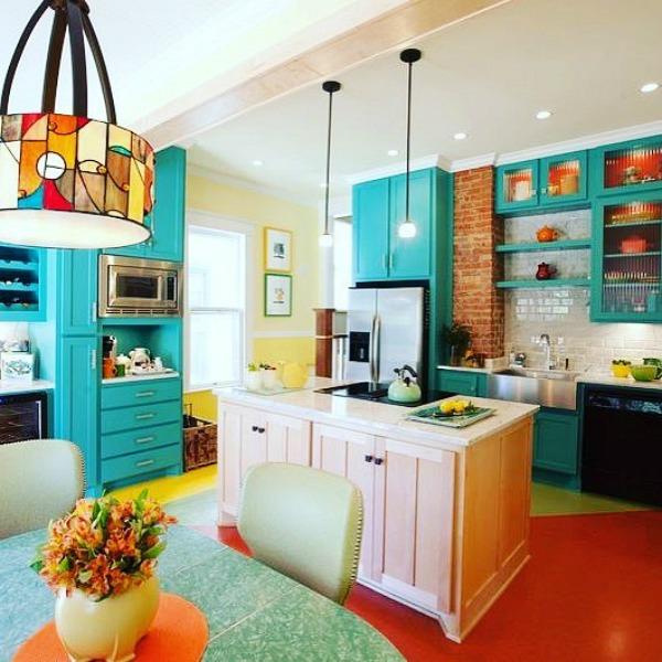 Painted Floor Kitchen
