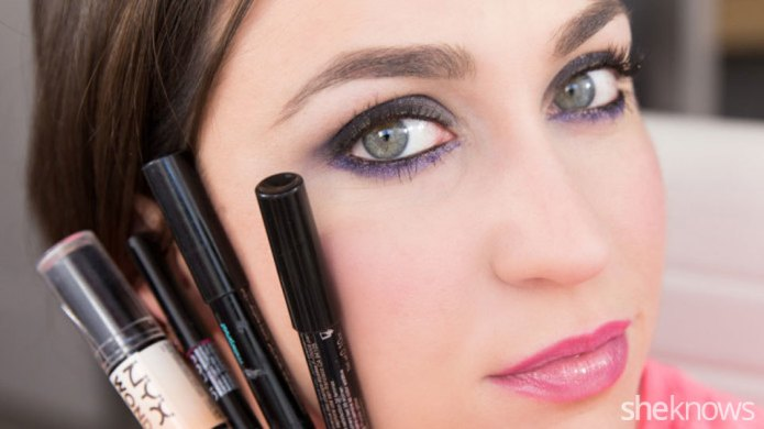 Create glam party makeup using 4