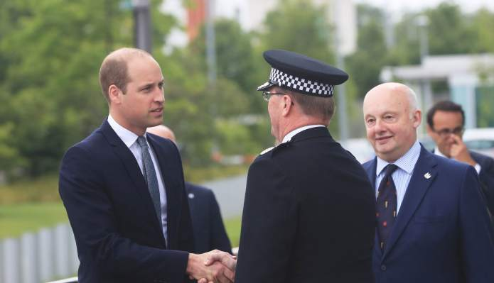 Prince William Meeting With Manchester First
