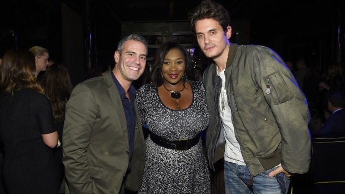 Andy Cohen, Bevy Smith and John