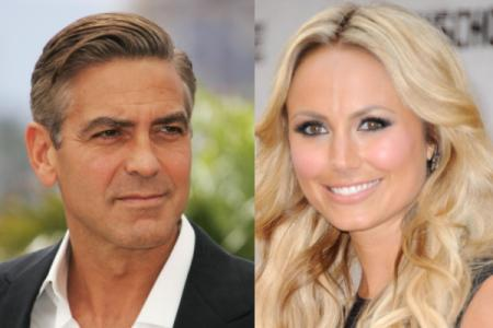 Is George Clooney nibbling on Stacy