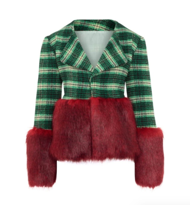 Holiday Outfit Color Combos | Red Meets Green Jacket