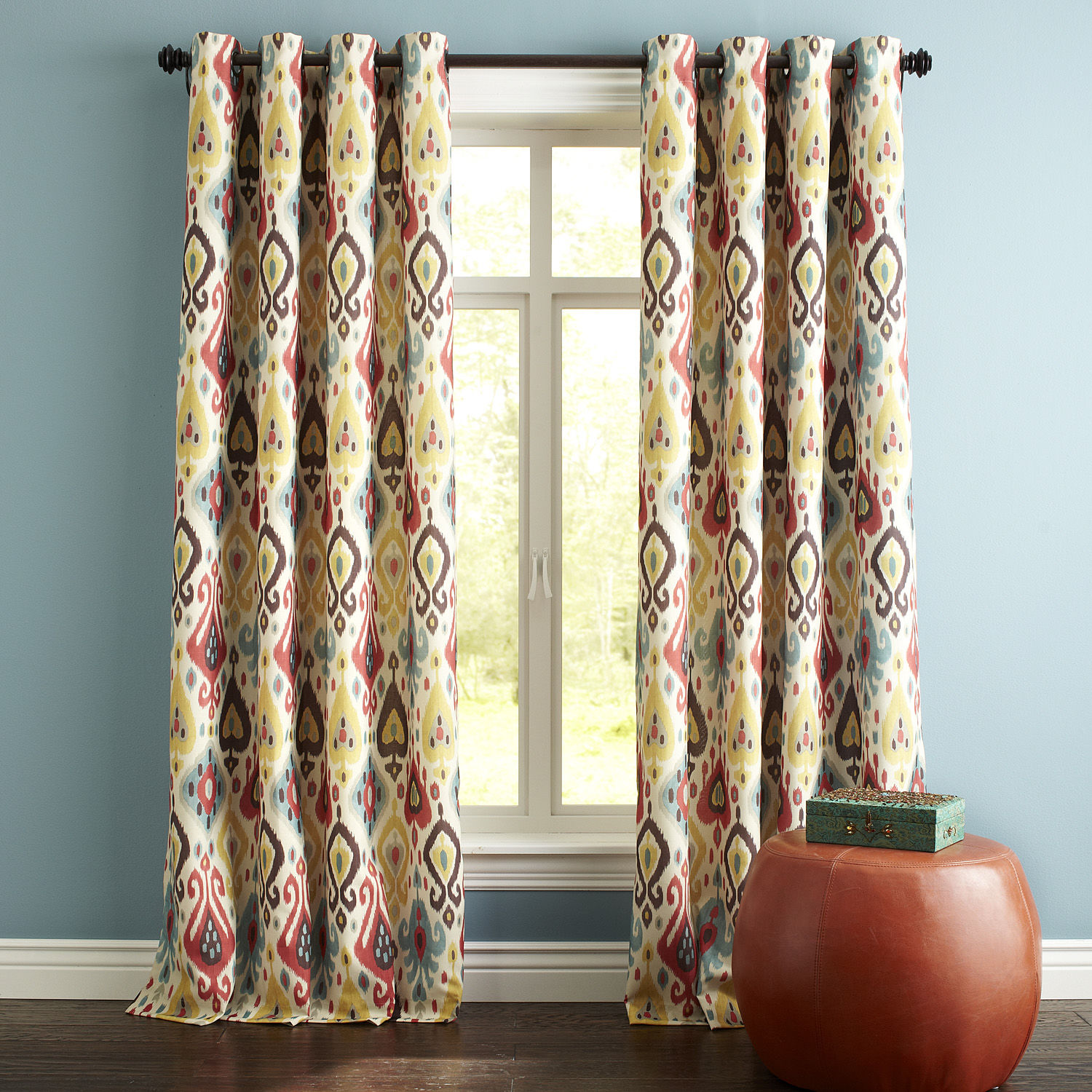 Ikat curtains from Pier 1 Imports