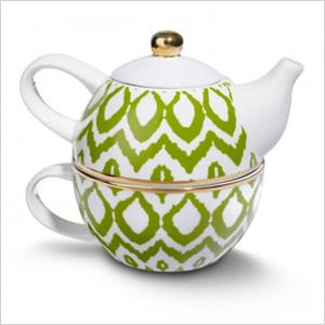 Ikat teas set for one