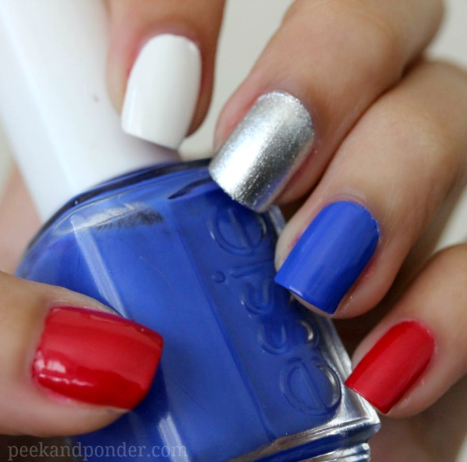 Patriotic themed nail design
