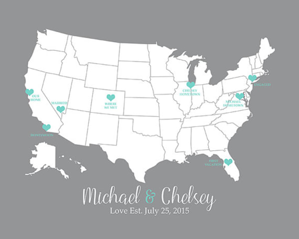 Anniversary Gift Ideas for Him: Love Map